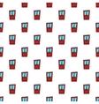 Interior door pattern cartoon style vector image vector image