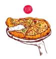 Italian Cuisine Concept vector image vector image