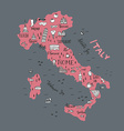 Italian Map vector image