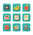 Modern Flat Financial Icons vector image vector image