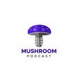 mushroom podcast logo vector image vector image