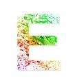 Music theme grungy font Letter E vector image