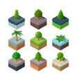 natural park urban landscape vector image vector image