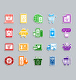 online shop patch sticker icons set vector image vector image
