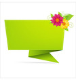 Origami Paper With Leaf And Flower vector image vector image