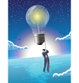 Over the horizon business concept vector image