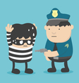 Police Catch Thief vector image vector image