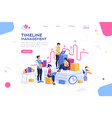 presentation with isometric people vector image