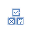 rebus line icon concept rebus flat symbol vector image