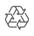 recycling line icon vector image vector image