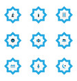religion icons colored set with masjid arabian vector image vector image