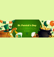 saint patricks celebration poster vector image vector image