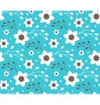 Seamless Bright Fun Abstract Spring Flower Pattern vector image vector image