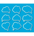 Set of Cloud Shaped Speech Bubbles vector image vector image