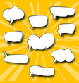 speech bubbles on cartoon pop art background vector image