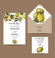 template for wedding invitation card vector image