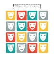 Theatrical masks emoticons Characters with vector image