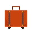 Travel Suitcase icon flat style Classic with a vector image vector image