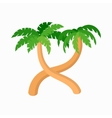 Two palm trees icon cartoon style vector image vector image