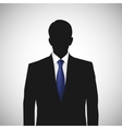 Unknown person silhouette whith blue tie vector image vector image