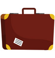 vintage suitcase with sticker luggage leather vector image vector image