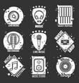 live music festival shop and recording studio vector image