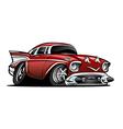American Classic Muscle Car Cartoon vector image