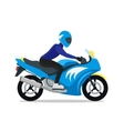 Motorcyclist on Motorbike vector image