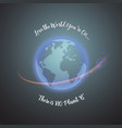 world earth day concept monochrome vector image