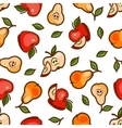 apples and pears seamless pattern vector image vector image