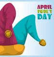 april fools day hat joker concept vector image vector image