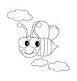 bee among the clouds vector image