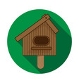 birdhouse icon on white background vector image vector image