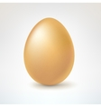 Brown egg isolated on white background vector image vector image