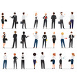 business people conversation in formal suit vector image