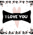 card with lettering i love you in scandinavian vector image vector image