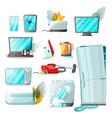 cartoon flat consumer electronics home appliances vector image