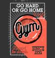 color vintage gym banner vector image vector image