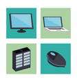 computer and technology devices vector image vector image