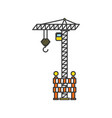 construction crane with fence vector image vector image