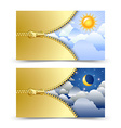 day and night cards vector image vector image