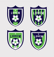 Football logo badges set good for football team