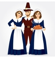 for thanksgiving of the pilgrims vector image