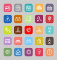 Franchise line flat icons vector image vector image