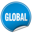 global round blue sticker isolated on white vector image vector image