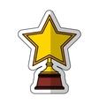 golden star award icon vector image vector image