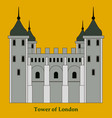 gpo tower london vector image vector image