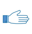 hand symbol isolated vector image vector image
