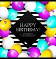 happy birthday greeting card bunch balloons vector image vector image