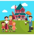 Happy Family Buying a New House Real Estate Agent vector image vector image